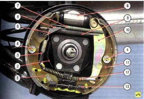 Шевроле ланос задние тормоза устройство