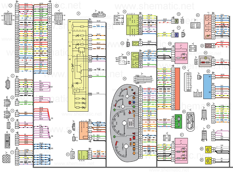 Шевроле ланос схема электропроводки