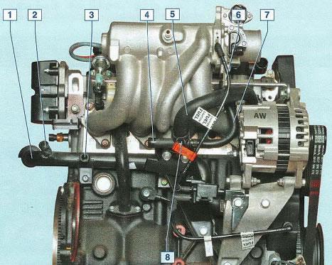 Система охлаждение сзади двигателя