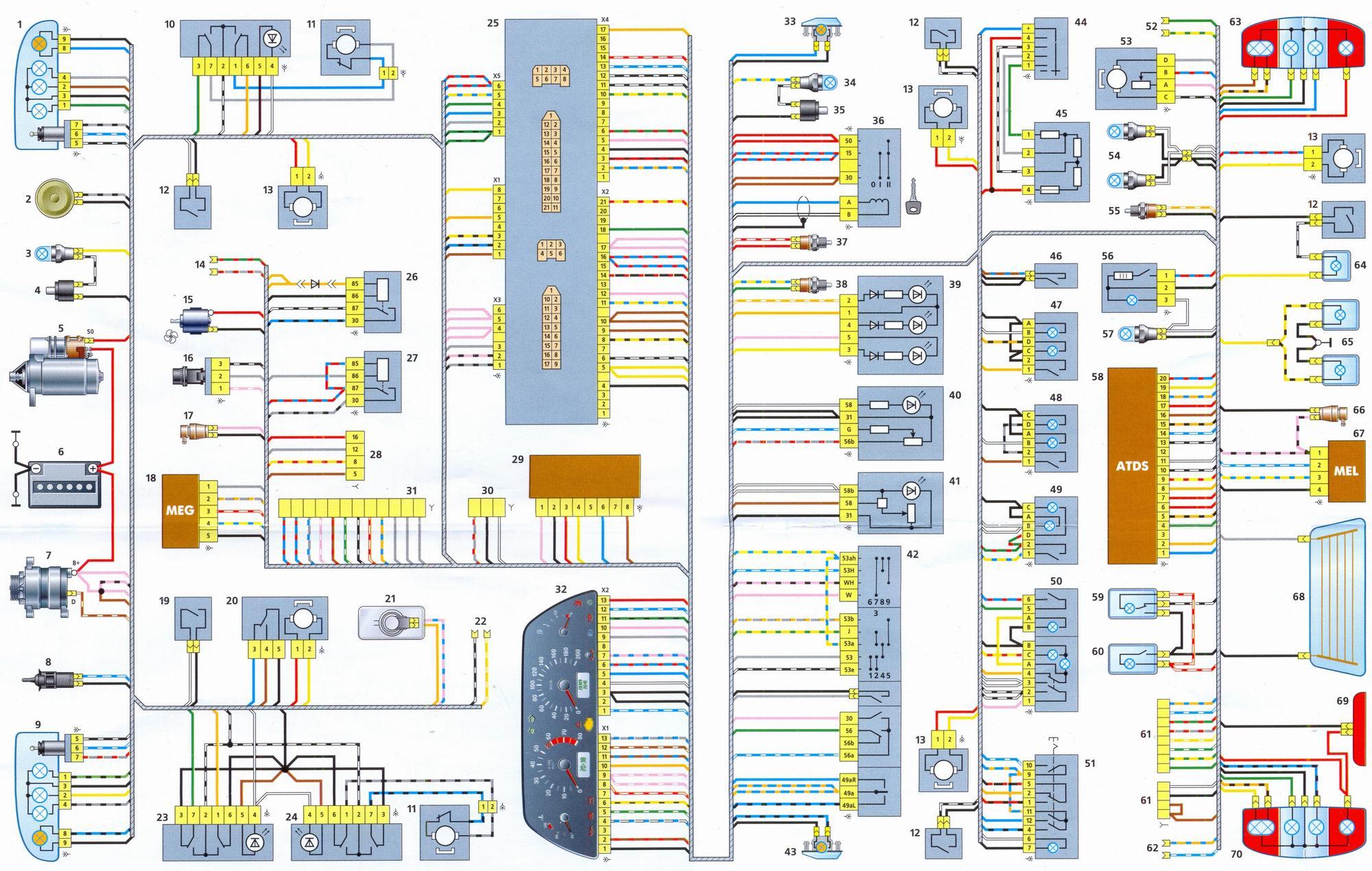 схема двигателя ланос 1 5